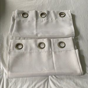 Other - Set of 2 Panel White Curtains